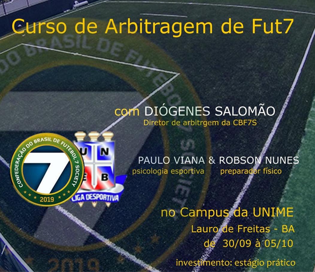 Bahia recebe o curso de oficiais de arbitragem de Futebol 7