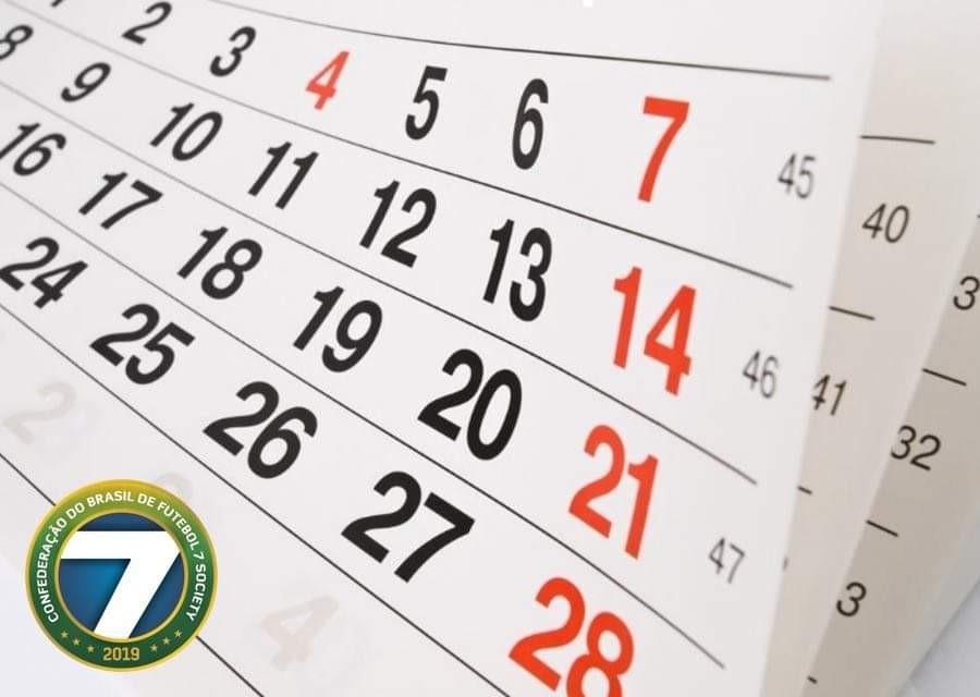 CBF7S divulga calendário nacional de competições para 2021