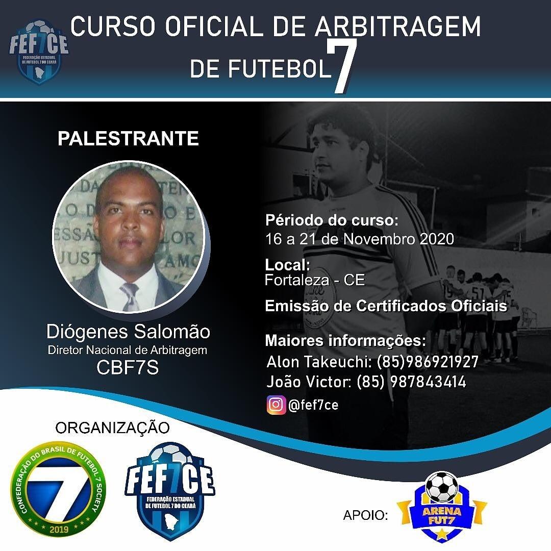 Curso de oficiais de arbitragem de Futebol 7 no Ceará