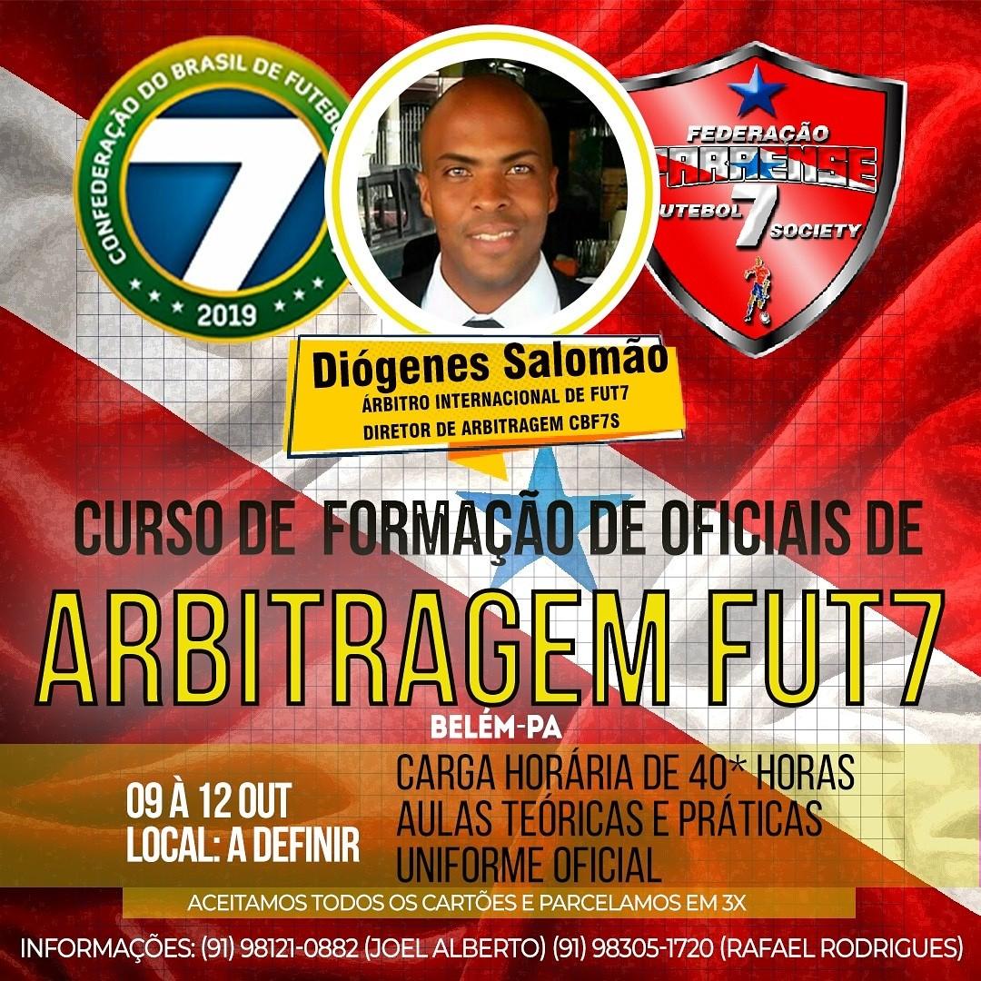 Curso de oficiais de arbitragem de Futebol 7 no Pará