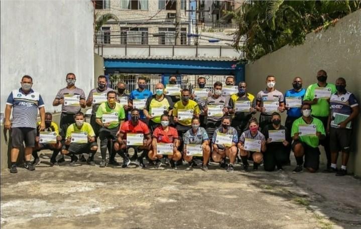 Curso de oficiais de arbitragem de Futebol 7 no Rio de Janeiro