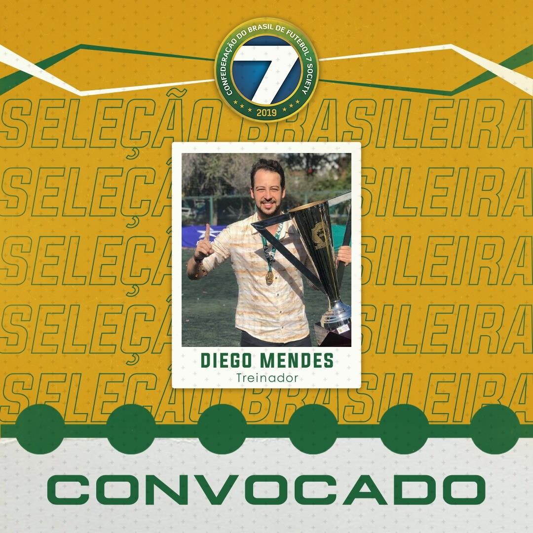 Diego Mendes é anunciado como treinador da Seleção Brasileira