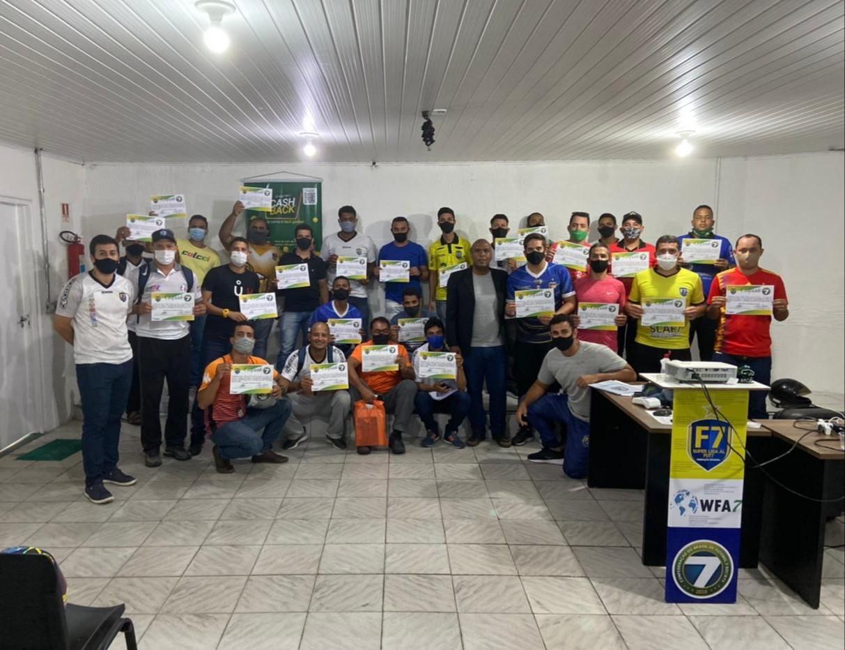 Finalizado o curso de oficiais de arbitragem de Futebol 7 em Alagoas