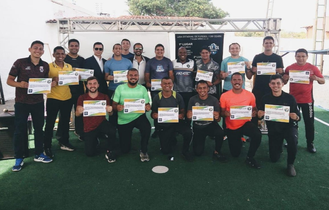 Finalizado o curso de oficiais de arbitragem de Futebol 7 no Ceará