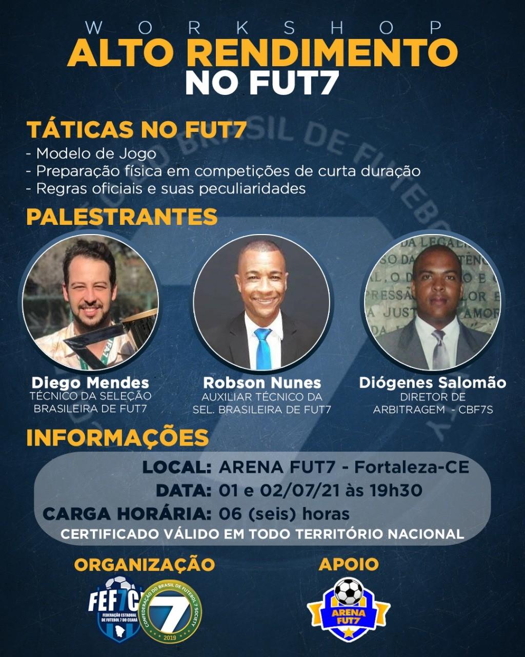 Workshop de alto rendimento no Futebol 7
